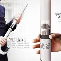 Airblow Will Release The Concept Of An Invisible Umbrella In 2050