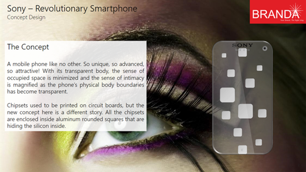 Sony Revolutionary Transparent Smartphone 4