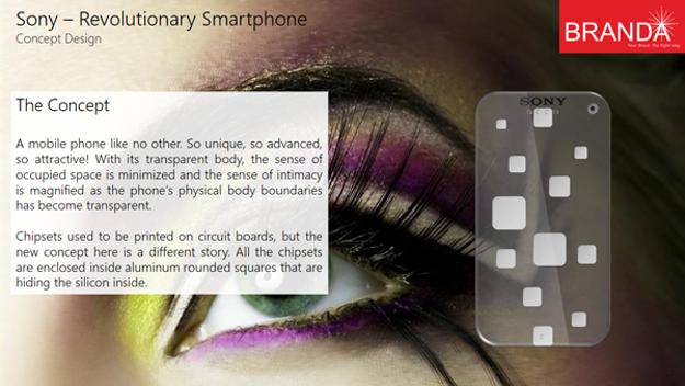 Sony Revolutionary Transparent Smartphone 4