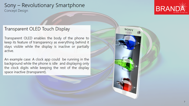 Sony Revolutionary Transparent Smartphone 7