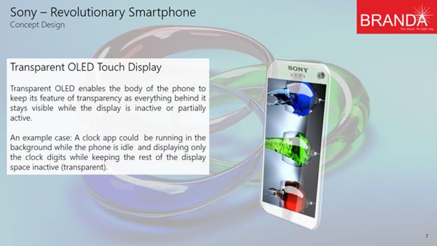 Sony Revolutionary Transparent Smartphone 7