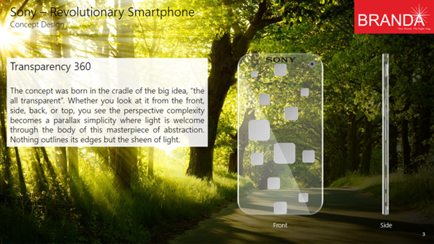Sony Revolutionary Transparent Smartphone 8