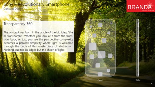 Sony Revolutionary Transparent Smartphone 8