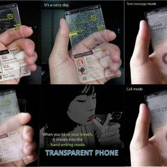Transparent Windows Mobile or Windows Weather Detection Phone