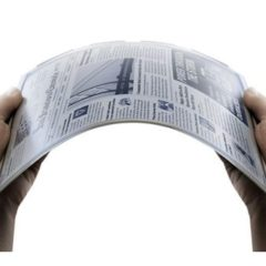 Newspaper size – Flexible e-paper (LG Display)