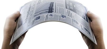 Newspaper size – Flexible e-paper (LG Display)