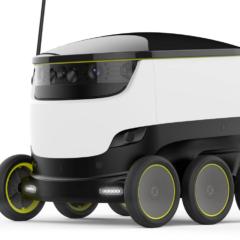 Future Food Deliveries : DoorDash Starship Robot Food Delivery in Redwood