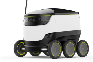 Future Food Deliveries : DoorDash Starship Robot Food Delivery in Redwood